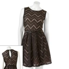 Speechless Lace & Faux-Leather Dress - Juniors