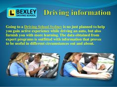 Bexley Driving School is Australia's most trusted & professional driver training school. Get the best driving school in Sydney for having the finest driving Best Driving School, Training School, Schools, Sydney, Knowledge, How To Plan, Learning, Studying, School