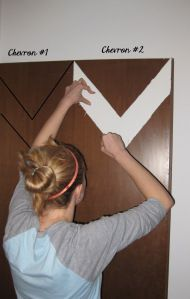 DIY Chevron Door
