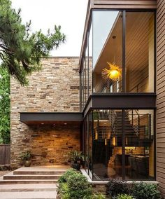this new california modern house design makes itself at home in the forest 32 Contemporary Interior Design, Modern House Design, Contemporary Architecture, Decor Interior Design, Interior Architecture, Contemporary Stairs, Contemporary Building, Contemporary Cottage, Contemporary Apartment