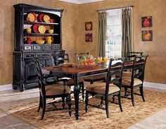 Dining Kitchen Furniture Ebony China Cabinet