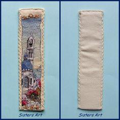 """Segnalibro """"Grecia"""" ricamato a punto croce, by Sisters Art, in vendita su http://www.misshobby.com/it/negozi/sisters-art"""