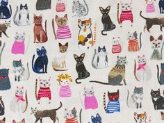 Hotdogs and Cool Cats Kitty Pink Fabric Canada, Fabulous Dresses, Cool Cats, Hot Dogs, Cotton Fabric, Kitty, Kids Rugs, Quilts, Cool Stuff