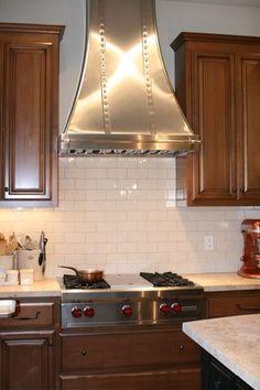 Modern Aire Hood With Tile In Background. Kitchen HoodsRangeKitchen ...