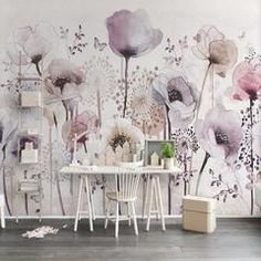 Large Pink Tulips Wall Mural