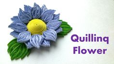 Tutoriel Quilling Flowers - Quilling Sunflower - P - Fleurs Quilling Idee Quilling Flowers Tutorial, Quilling Instructions, Paper Quilling Flowers, Paper Flower Art, Quilled Paper Art, Quilling Paper Craft, Quilling Patterns, Quilling Designs, Paper Crafting
