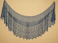 Flight Home Shawl pattern by Yulia Vysochina - a Tücher - Stricken Lace Knitting Patterns, Shawl Patterns, Lace Patterns, Knitting Designs, Knitting Tutorials, Crochet Scarves, Crochet Shawl, Crochet Lace, Knit Cowl