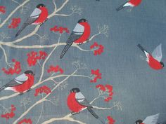 Rectangular / Oval Tablecloth with Mountain Ash and by MilaStyle