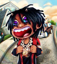 Trippy Wallpaper, Rap Wallpaper, Cartoon Wallpaper, Black Wallpaper, Iphone Wallpaper, Swag Cartoon, Dope Cartoon Art, Anime Rapper, Rapper Art