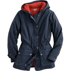 Women's DuluthFlex Fire Hose Parka Coat in Midnight Blue, wish it came in black or khaki green though. Six pockets (including handwarmer pockets!). Unfortunately, it also doesn't  come in XS.