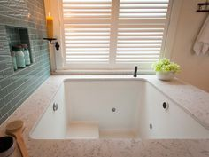 DREAM TUB!! 3 FOOT Deep. So much stretching room. From DIY Blog Cabin Tub side view