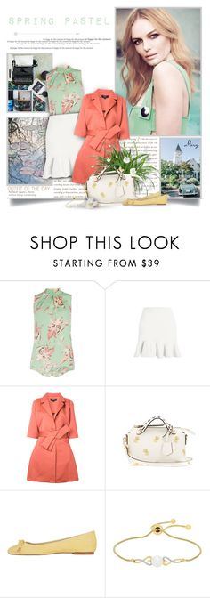 """""""Colorful Spring"""" by thewondersoffashion ❤ liked on Polyvore featuring Dorothy Perkins, Paule Ka, Fendi, ANNA BAIGUERA and Lord & Taylor"""