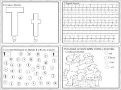 EDUCATIA CONTEAZA: Literele T, Ț, U Word Search, Google, Diy And Crafts, Colors, Double Deck Bed, Learning To Write, Reading