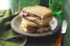 If you thought your turkey dinner was great, wait until you try this turkey sandwich: leftover turkey, gravy, stuffing and cranberry sauce in a toasted panini.