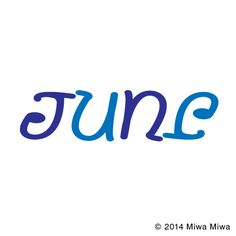 "Ambigram ""June"". Optical illusion,Word Play, http://asobidea.co.jp/en/service/illusion/"