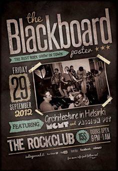 blackboard-poster
