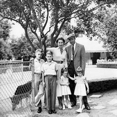 James Stewart with his wife Gloria and their children.