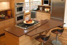 Beautifully lit modern kitchen