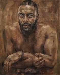 »✿❤Chocolate Brown❤✿«  Jonathan Yeo - Idris Elba