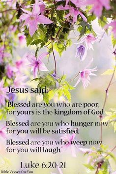 Luke 6:20,21