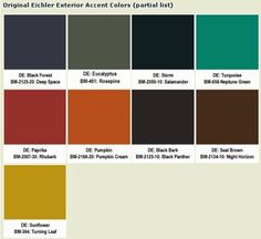 Erdal Team Blog: Front Door Color Ideas for Eichler and Mid-Century Modern Homes