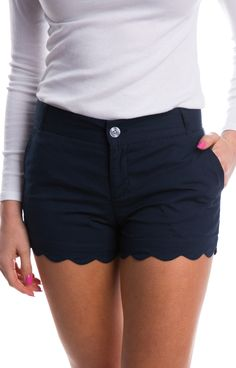 Just in time for spring, we gave our Poplin shorts a make over! These classic, flat-front shorts now feature a scalloped hem that will add a touch of prep to any outfit! You're going to go crazy over