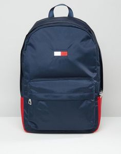 Image 1 of Tommy Hilfiger Exclusive Flag Backpack in Navy