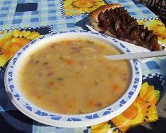Kartoffelsuppe: Kartoffelsuppe (potato soup) is a soup of traditional German cuisine. Its main ingredient is potatoes. Its consistency is quite thick.