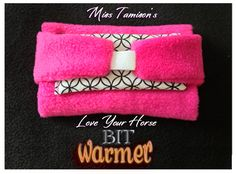 Horse lovers - don't accidentally teach your horse to resist bridling!  Warm your bit first with Miss Tamison's Love Your Horse Bit Warmer!  Easy to use and it works.  My horse practically reaches for the bit now!