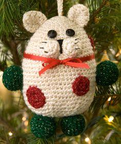 Kitty Ornament Free Crochet Pattern