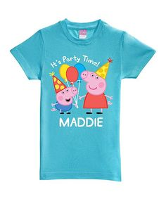 Peppa Pig Aqua Personalized Birthday Tee - Toddler & Girls