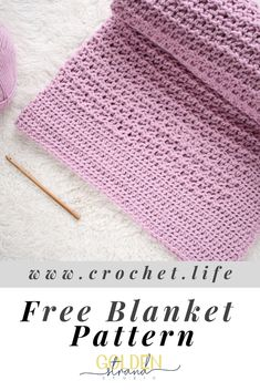 I love how easy this free baby blanket crochet pattern with built-in border is. It's like a simple textured blanket, but then super easy to finish. So fun. Diy Crochet Projects, Diy Crochet Patterns, Crochet Designs, Crochet Crafts, Easy Crochet, Free Crochet, Crochet Blankets, Baby Blanket Crochet, Baby Blankets