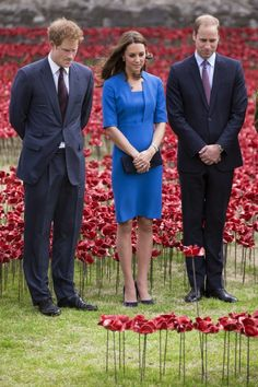 The Duke and Duchess of Cambridge and Prince Harry visit Tower of London