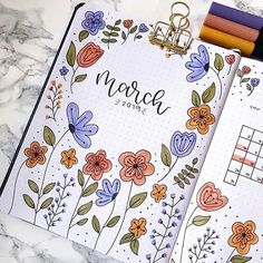 Need ideas for your next bullet journal monthly cover? These super cute March covers will give you the inspiration you need to get started! 📕 journal inspiration Bullet Journal Monthly Cover Ideas For March 2020 - Crazy Laura Bullet Journal School, Bullet Journal Cover Ideas, March Bullet Journal, Bullet Journal Banner, Bullet Journal Notebook, Bullet Journal Ideas Pages, Journal Covers, Bullet Journal Inspiration, Bullet Journal Ideas How To Start A