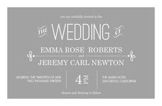 Print it yourself, or order prints, great prices Gray Whimsical (Set) Wedding Invitation by PurpleTrail.com