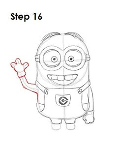 how to draw minions bob step by step