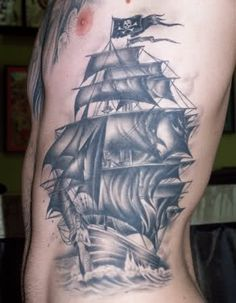 Mermaid Tattoo Pirate Ship Neverland By