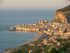 Cefalù, awesome town between Messina and Palermo. Perfect stop to lay on the sandy beach and relax...