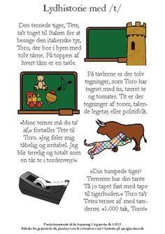 Fonemhistorie /t/ by sprogkiosken Danish Language, Teacher Pay Teachers, Teacher Newsletter, In Kindergarten, Sange, Teaching, Education, School, Historia