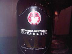 Cerveja Hitachino Nest Beer Extra High (XH), estilo Belgian Dark Strong Ale, produzida por Kiuchi Brewery, Japão. 8% ABV de álcool.