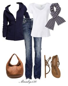 """""""Stripe"""" by mandys120 ❤ liked on Polyvore featuring Billabong, Bottega Veneta, Old Navy, miss-me, Witchery and Armor-Lux"""