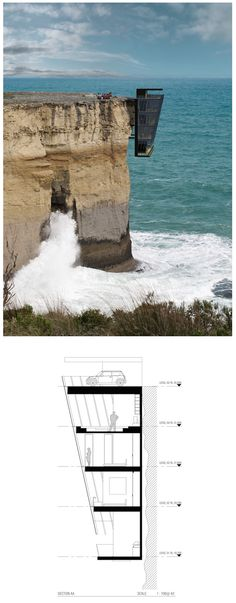 Modular House Design Concept Clings to the Side of a Cliff