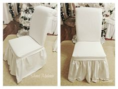 ~Sweet Melanie~: How to make a dining chair slipcover