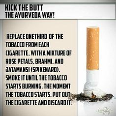 Quit smoking the Ayurveda way