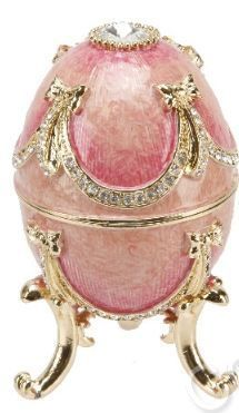 FABERGE EGG - Pink Enamel & Diamond Aww…this one's so pink and cute! I CAN ONLY WISH I HAD IT!