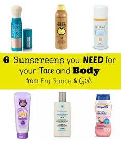 Six Best Sunscreens from FrySauceandGritsl.com