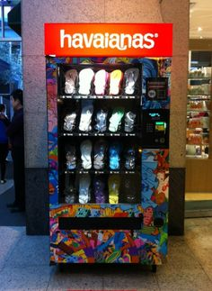 Havaianas vending machine in Sydney