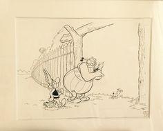 Asterix et obelix par Albert Uderzo - Illustration