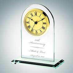 Personalized Gold Roman Arch Clock ** Read more reviews of the product by visiting the link on the image.