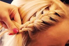 Braided bang. ake a unique spin on your bangs and braid it over to the side #hair #braid #hairstyle
